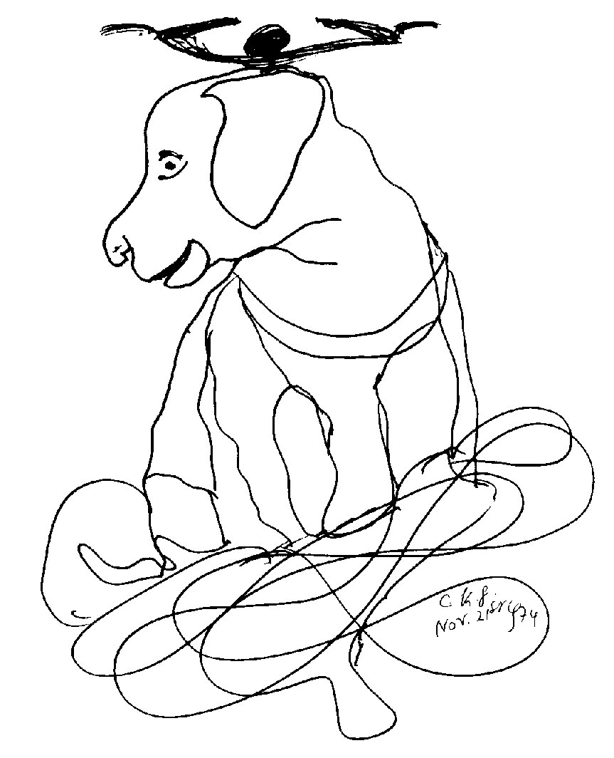 21-11-1974-dog-by-sri-chinmoy