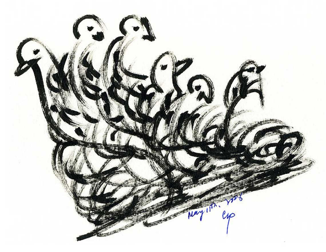 Bird Drawing by Sri Chinmoy Centre 11-5-2006-4