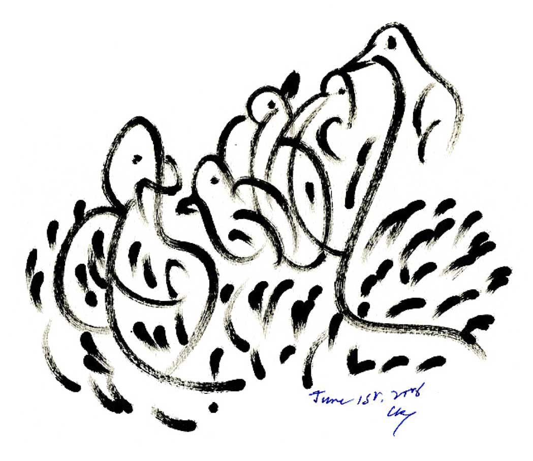 Bird-Drawing-by-Sri-Chinmoy-1-6-2006-9