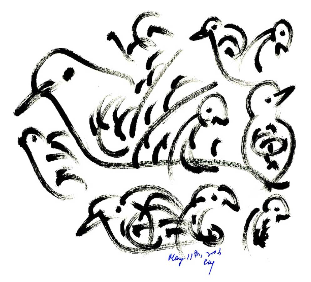 Bird-Drawing-by-Sri-Chinmoy-11-5-2006-10