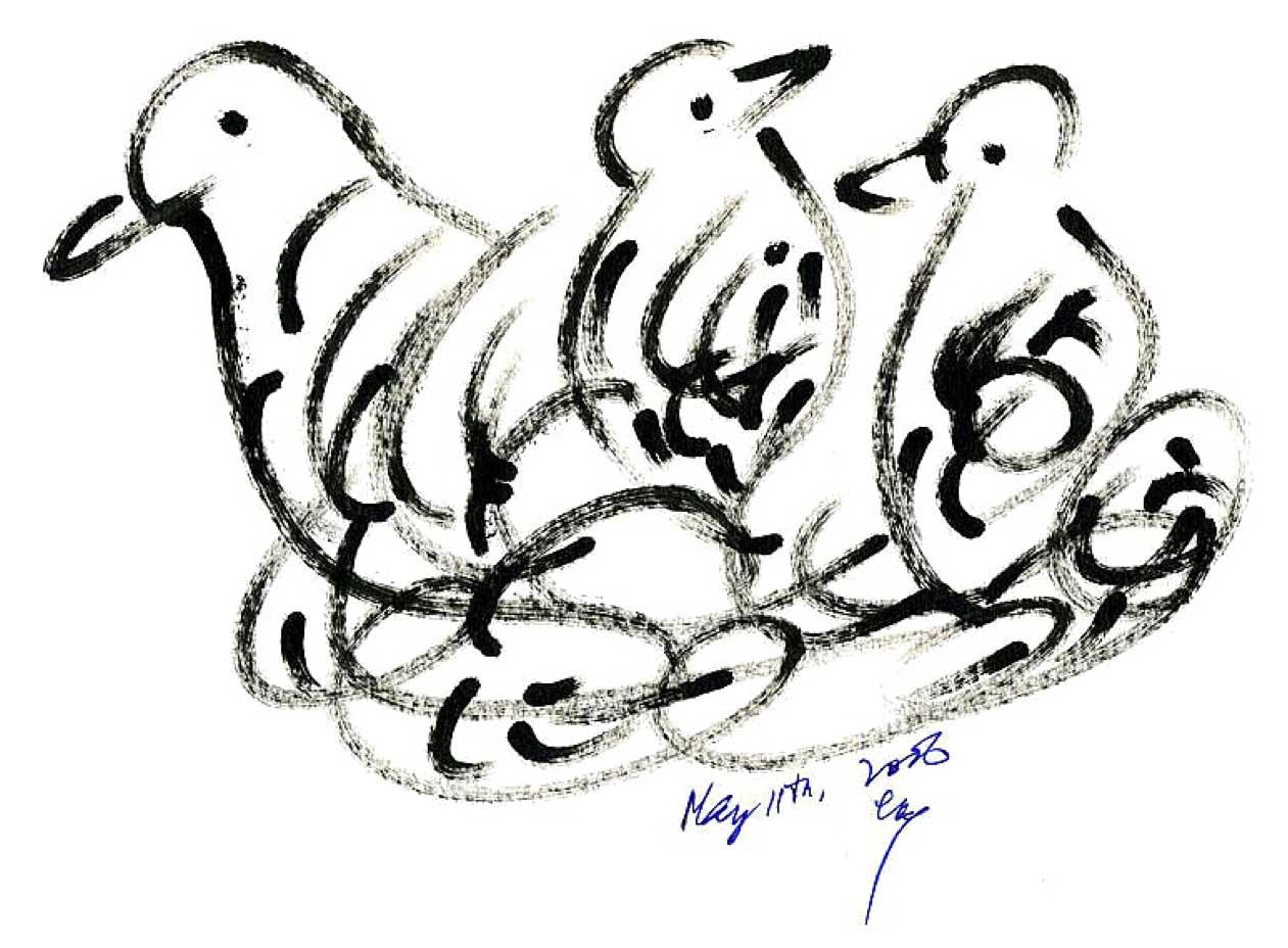 Bird-Drawing-by-Sri-Chinmoy-11-5-2006-11