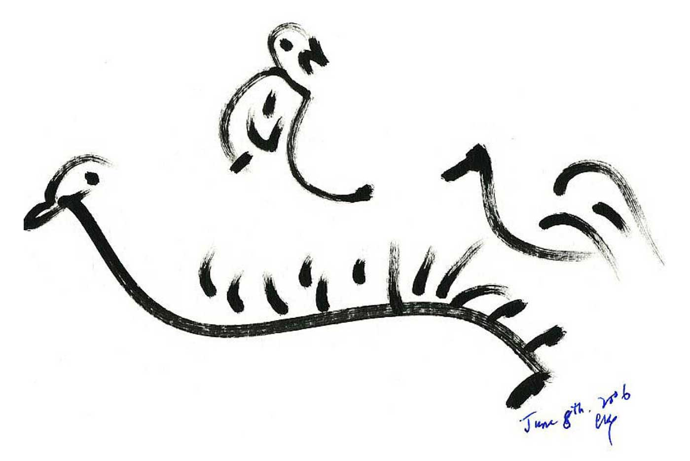Bird-Drawing-by-Sri-Chinmoy-8-6-2006-7